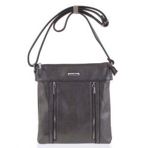 Dámská crossbody kabelka tmavě stříbrná – Silvia Rosa Avicii stříbrná