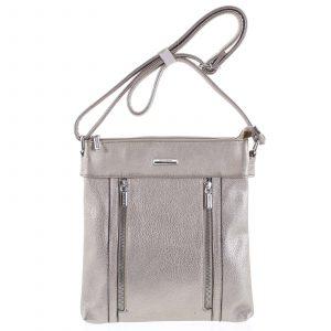 Dámská crossbody kabelka stříbrná – Silvia Rosa Avicii stříbrná