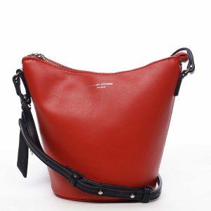Dámská crossbody kabelka červená – David Jones Misahy červená