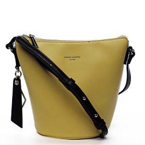 Dámská crossbody kabelka žlutá – David Jones Misahy žlutá
