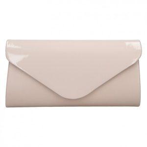 Elegantní lakované dámské psaníčko Morell – béžovo-růžová