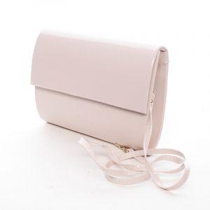 Střední dámské elegantní psaníčko pudrové matné – Delami SanDiego růžová