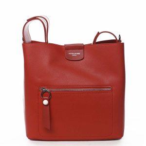 Dámská kabelka přes rameno červená – David Jones Salma červená