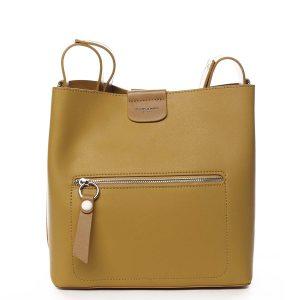 Dámská kabelka přes rameno žlutá – David Jones Salma žlutá