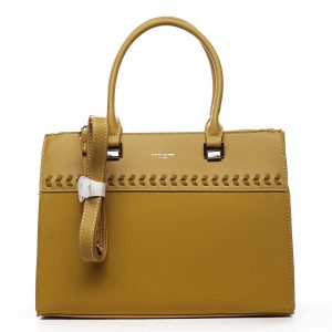 Dámská kabelka do ruky žlutá – David Jones Tosmal žlutá