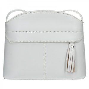 Dámská kožená kabelka Vera Pelle Martinas – bílá