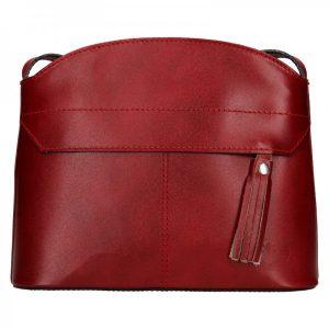 Dámská kožená kabelka Vera Pelle Martinas – vínová