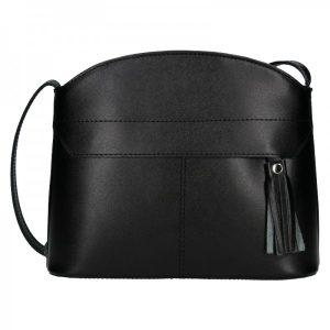 Dámská kožená kabelka Vera Pelle Martinas – černá