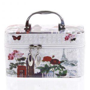 Dámský kosmetický kufřík bílý – Yoody B S barevná