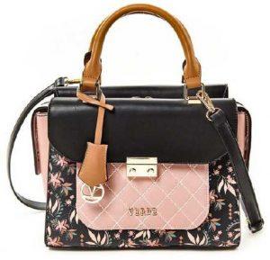 Verde SLEVA – Dámská kabelka 16-5245 Pink/Black