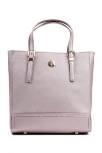 Tommy Hilfiger šedá kabelka Honey Med Workbag Metallic