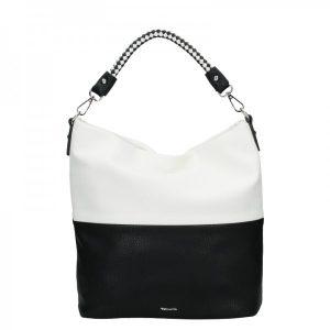 Dámská crossbody kabelka Tamaris Anelie – bílo-černá