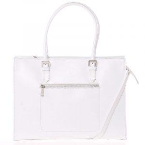 Moderní a elegantní dámská kožená kabelka bílá – ItalY Madelia bílá