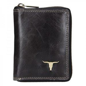Pánská kožená peněženka Wild Buffalo Petrov – černá