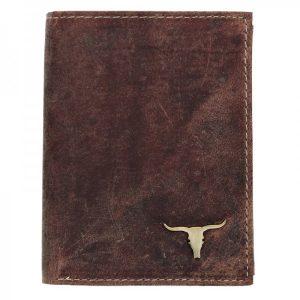 Pánská kožená peněženka Wild Buffalo Tomas – koňak