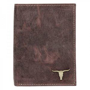 Pánská kožená peněženka Wild Buffalo Tomas – hnědá