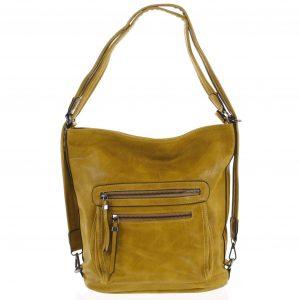 Dámská kabelka batoh tmavě žlutá – Romina Jaylyn žlutá