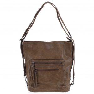 Dámská kabelka batoh pískově hnědá – Romina Jaylyn Khaki