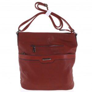 Dámská crossbody kabelka tmavě červená – Romina Elmina červená