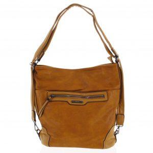 Dámská kabelka batoh tmavě žlutá – Romina Zilla žlutá