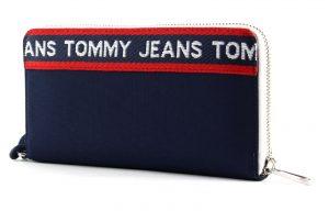 Tommy Hilfiger tmavě modrá peněženka TJW Logo Tape LRG Za Wallet CB
