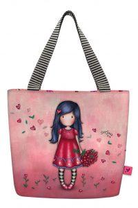 Santoro červeno-růžová obědová taška Gorjuss Sparkle&Bloom Love Grows