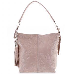 Dámská kožená kabelka přes rameno růžová – ItalY Heather růžová