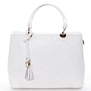 Originální dámská kožená kabelka bílá – ItalY Mattie bílá