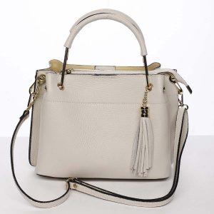 Exkluzivní dámská kožená kabelka béžová – ItalY Maarj béžová