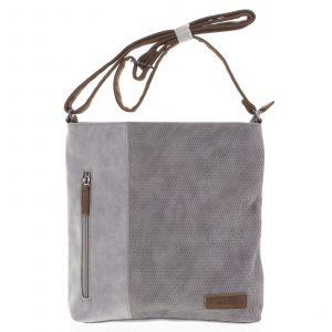 Dámská crossbody kabelka světle šedá – Beagles Witharmy šedá