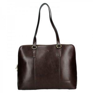 Elegantní dámská kožená kabelka Katana Apolens – tmavě hnědá