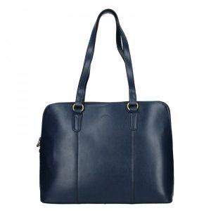 Elegantní dámská kožená kabelka Katana Apolens – modrá