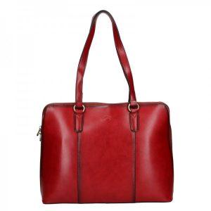Elegantní dámská kožená kabelka Katana Apolens – červená