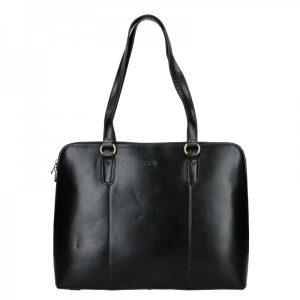 Elegantní dámská kožená kabelka Katana Apolens – černá