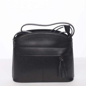 Černá kožená crossbody kabelka – ItalY Marla černá