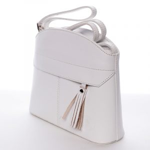 Bílá kožená crossbody kabelka – ItalY Marla bílá