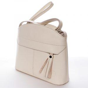 Béžová kožená crossbody kabelka – ItalY Marla béžová