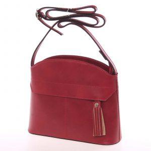 Tmavě červená kožená crossbody kabelka – ItalY Marla červená