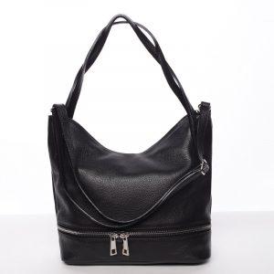 Dámská stylová kožená kabelka přes rameno černá – ItalY Acness černá