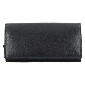 Číšnická kožená peněženka Lagen Menolo – černá