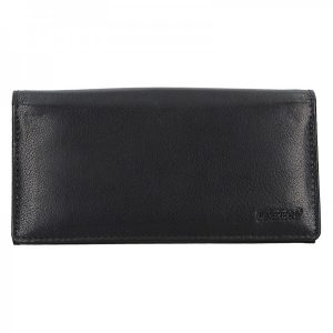 Číšnická kožená peněženka Lagen Menole – černá