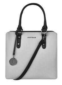 JustBag Dámská kabelka 3824 Grey/Black