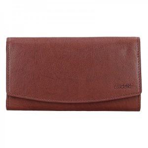 Dámská kožená peněženka Lagen Ninnas – hnědá