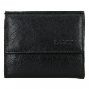 Pánská kožená slim peněženka Lagen Jonatan – černá
