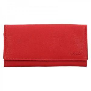 Dámská kožená peněženka Lagen Argenta – červená