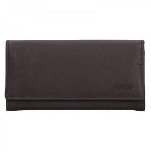 Dámská kožená peněženka Lagen Argenta – hnědá