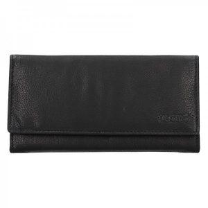 Dámská kožená peněženka Lagen Argenta – černá