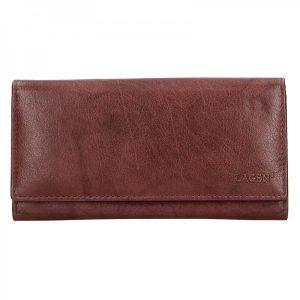 Dámská kožená peněženka Lagen Zinna – hnědá