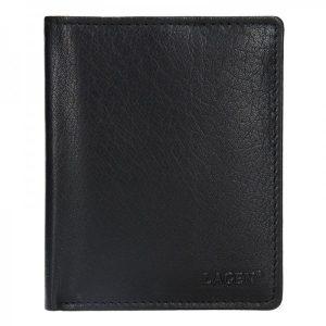 Pánská kožená peněženka Lagen Magnusen – černá