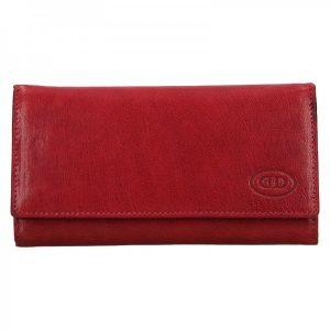 Dámská kožená peněženka DD Anekta Verona – červená